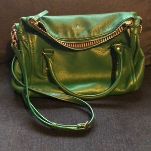 Kate Spade Kelly Green Leather Purse